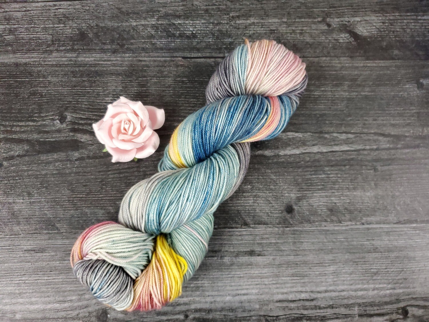 April Showers (Sport) Hand Dyed Yarn