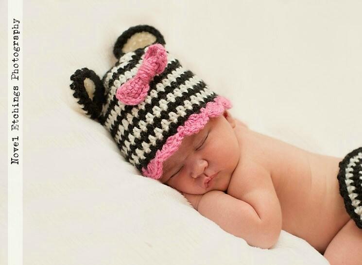 Zebra Beanie Crochet Pattern