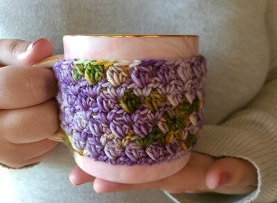 Blooming Flowers Coffee Cozy Crochet Kit