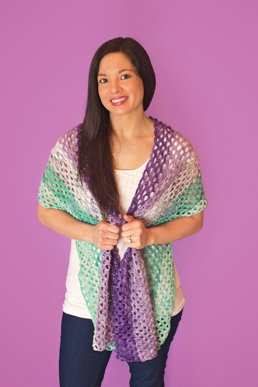 Mermaid Shawl Crochet Pattern