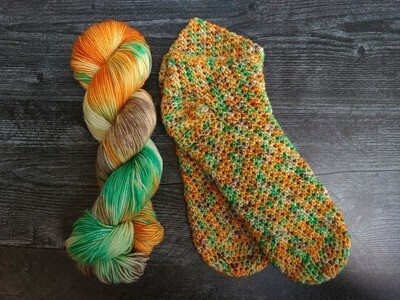 Caribbean Socks Crochet Kit Ready to Ship