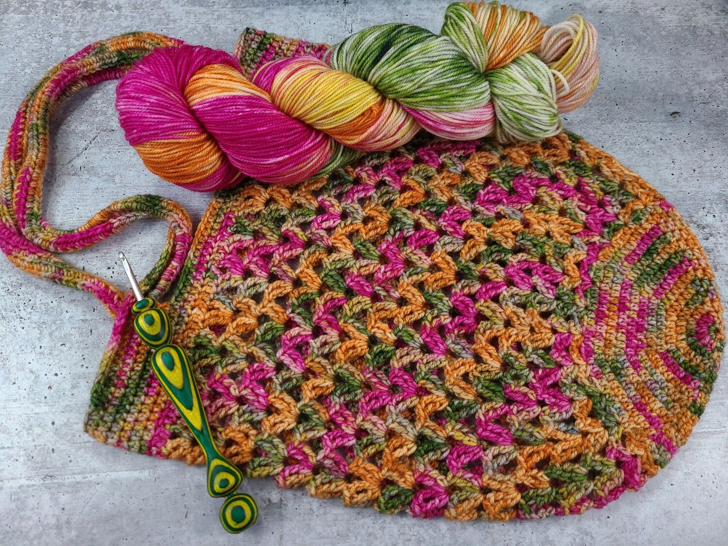 Tropical Market Bag Crochet Kit