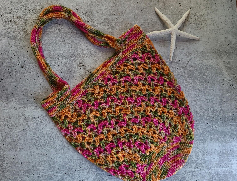 Tropical Market Bag Crochet Pattern