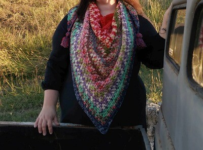 Christmas Shawl Crochet Kit Ready to Ship