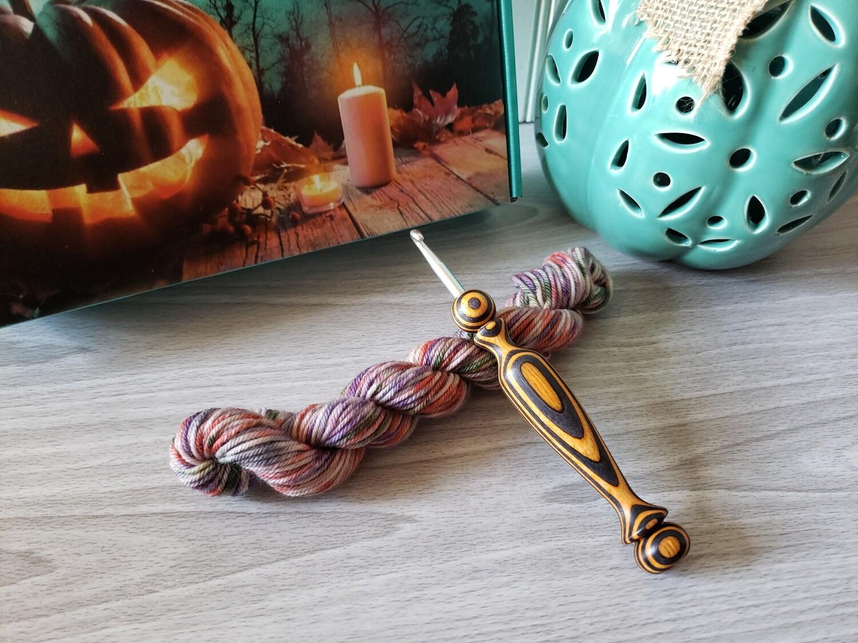 Spooky Splatter Hand Dyed Yarn