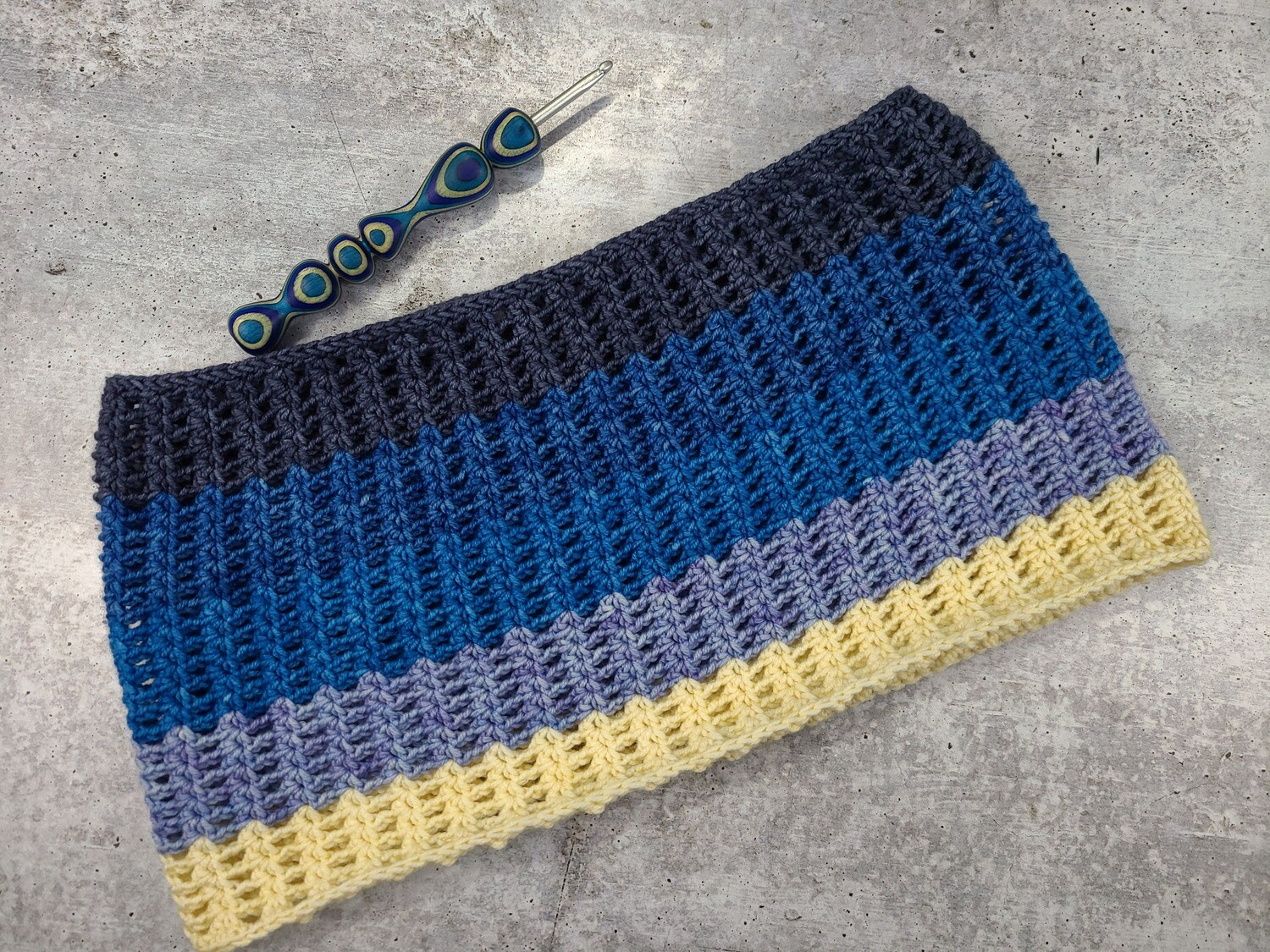 Frosted Sky Cowl Crochet Pattern