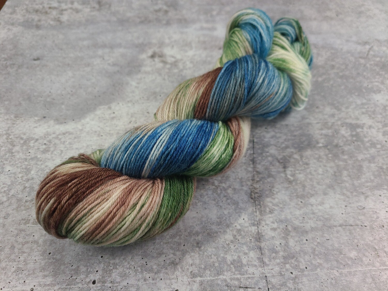 Peacock Feathers Sock Hand Dyed Yarn