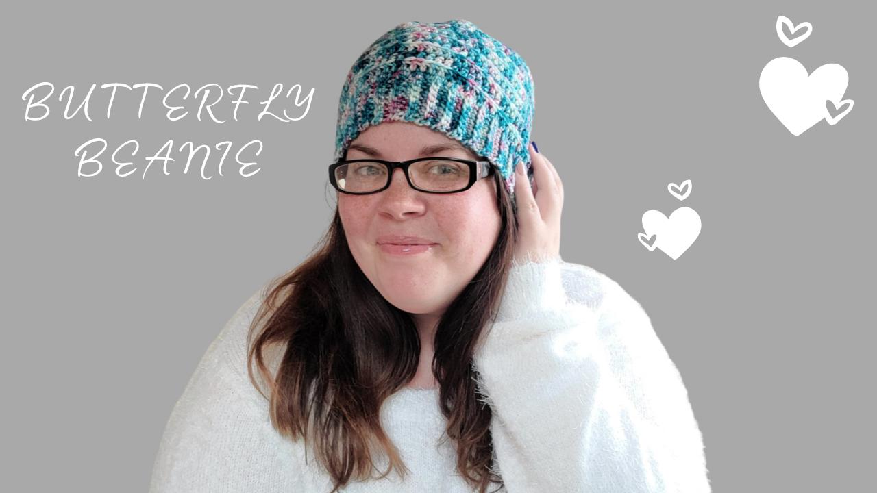 Butterfly Beanie Crochet Kit