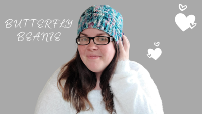 Butterfly Beanie Crochet Kit