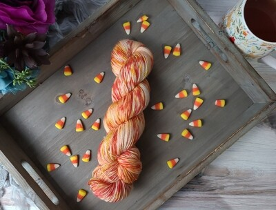 Candy Corn Hand Dyed Yarn
