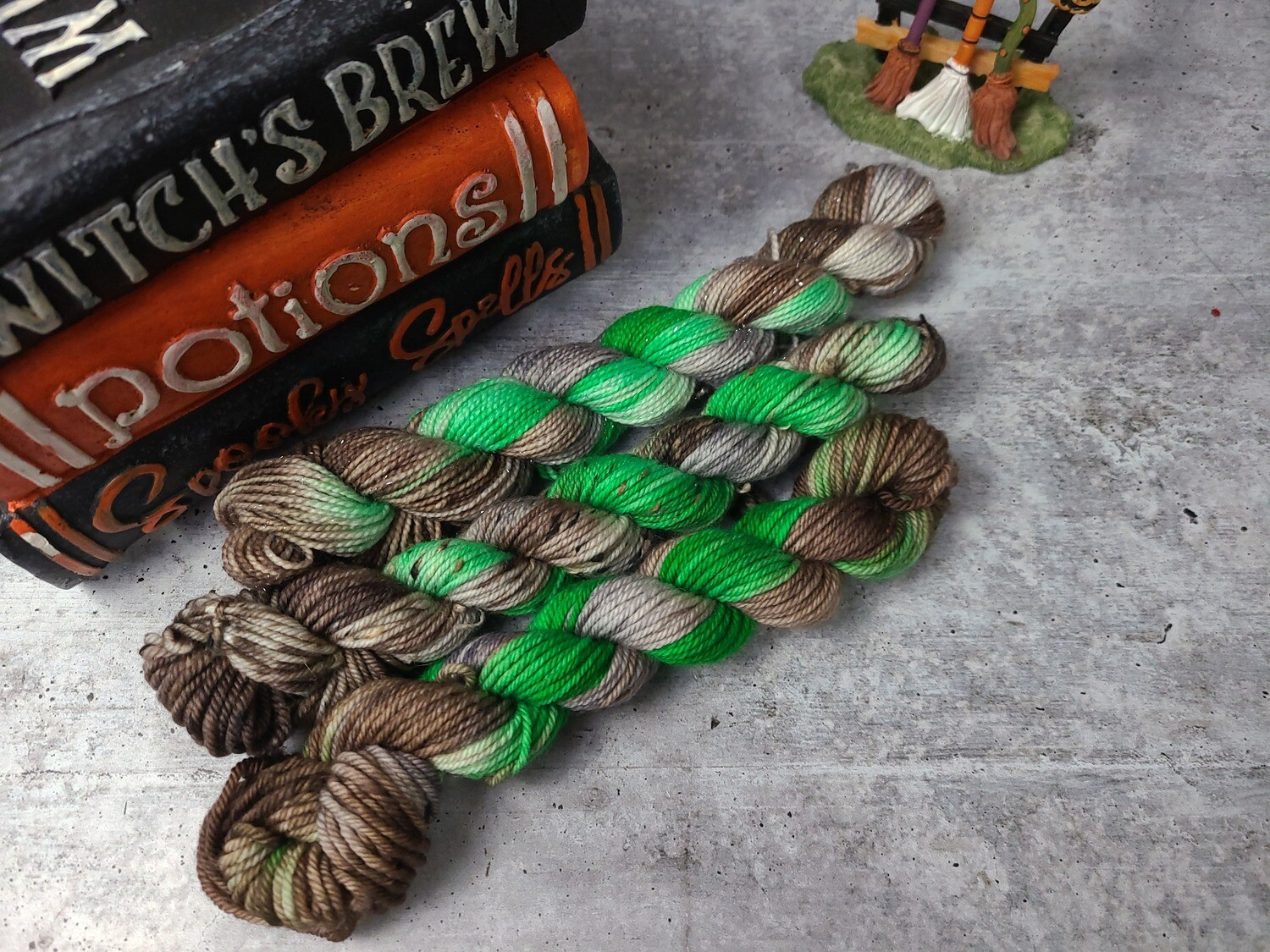 Spell Book Hand Dyed Yarn