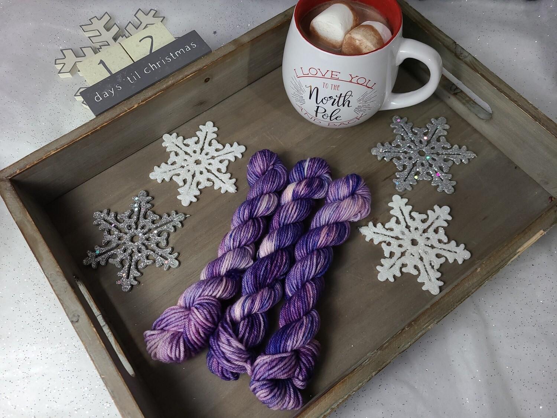 Royal Purple Hand Dyed Yarn