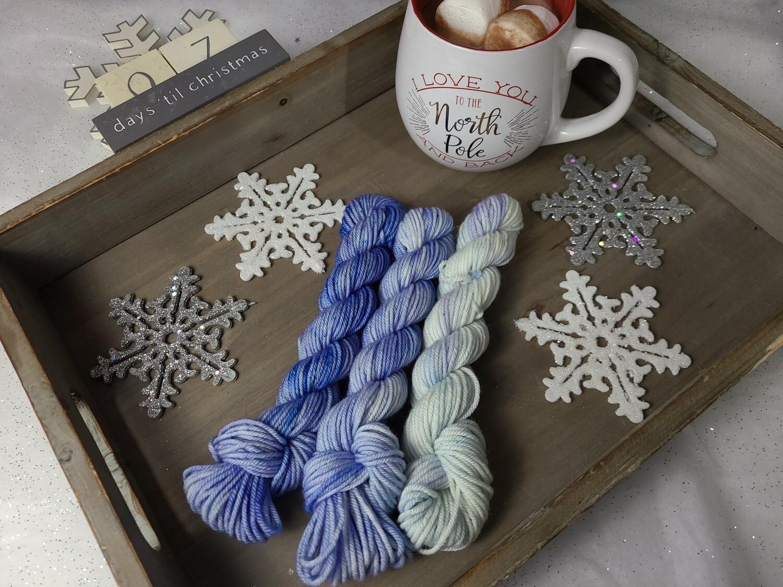 Snow Blue Hand Dyed Yarn