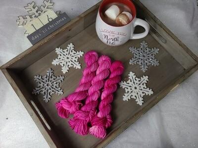 Magenta Hand Dyed Yarn