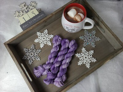 Lilac Light Hand Dyed Yarn