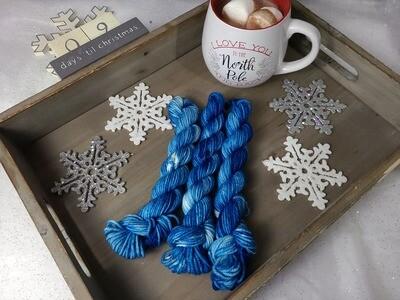 Peacock Blue Hand Dyed Yarn