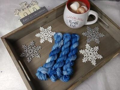 Enchanted Blue Hand Dyed Yarn