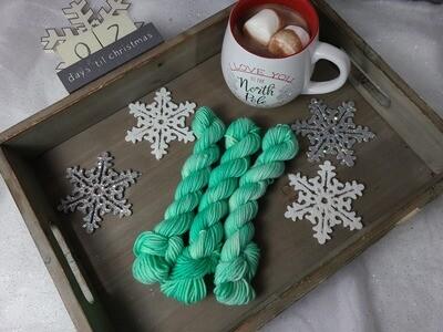 Spearmint Hand Dyed Yarn