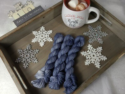 Steel Blue Hand Dyed Yarn