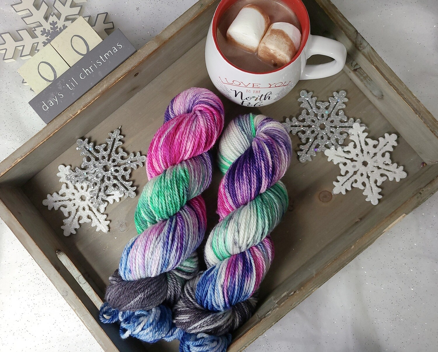Northern Lights (Aran) Hand Dyed Yarn