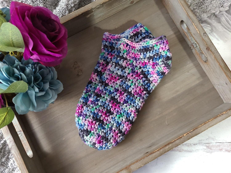 Northern Lights Socks Crochet Pattern