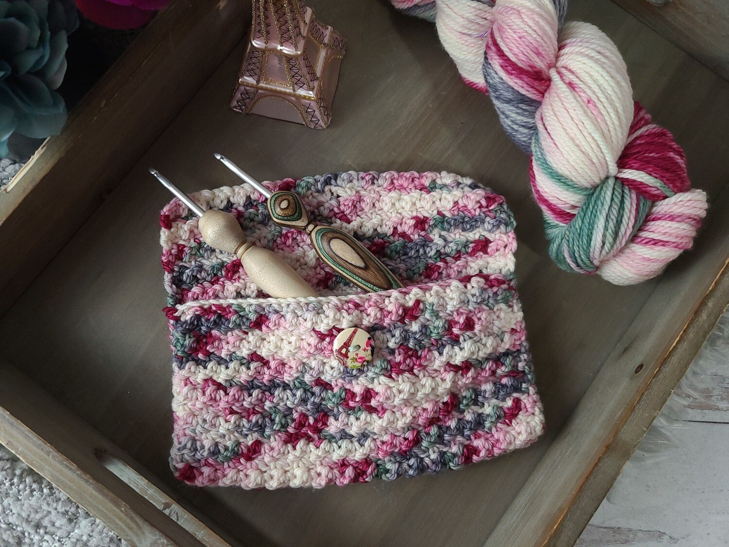 Paris Crochet Hook Pouch Crochet Kit