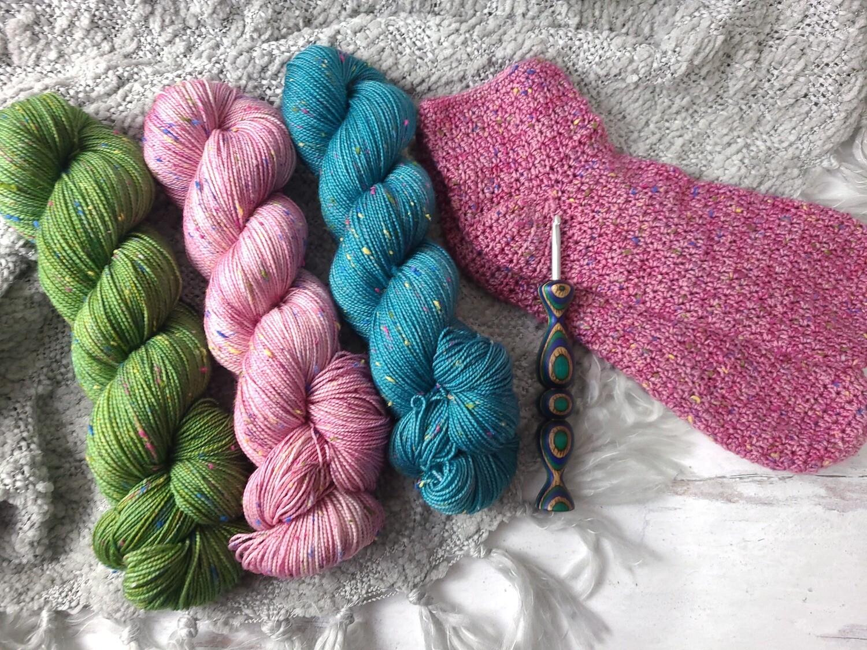 Sprinkles Socks Crochet Kit