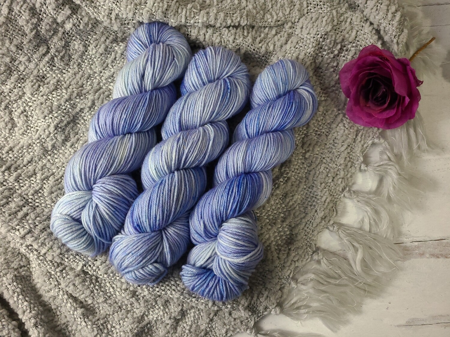 Snow Blue (DK) Hand Dyed Yarn Ready to Ship