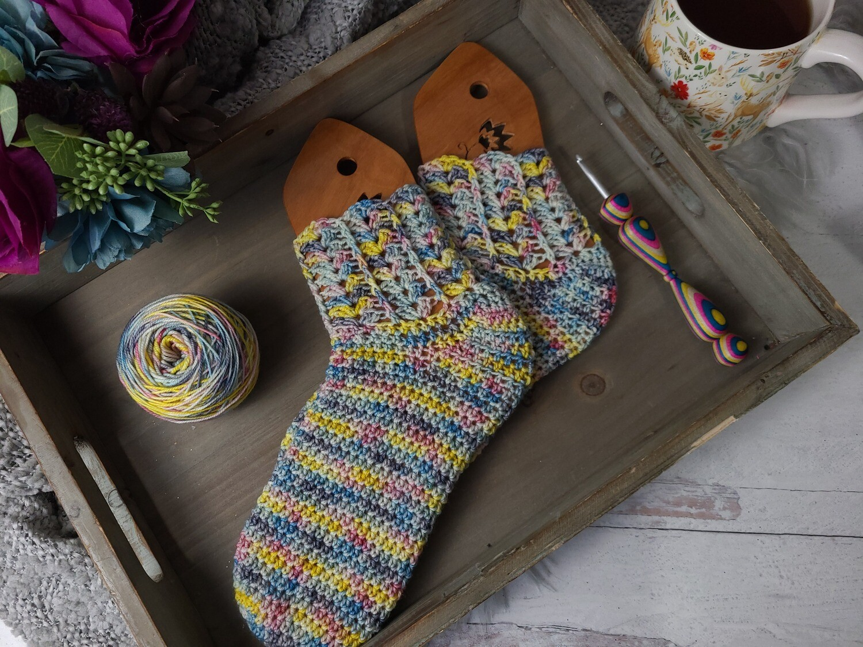 Rainbow Socks Crochet Pattern