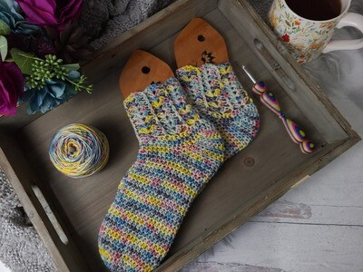 Rainbow Socks Crochet Pattern
