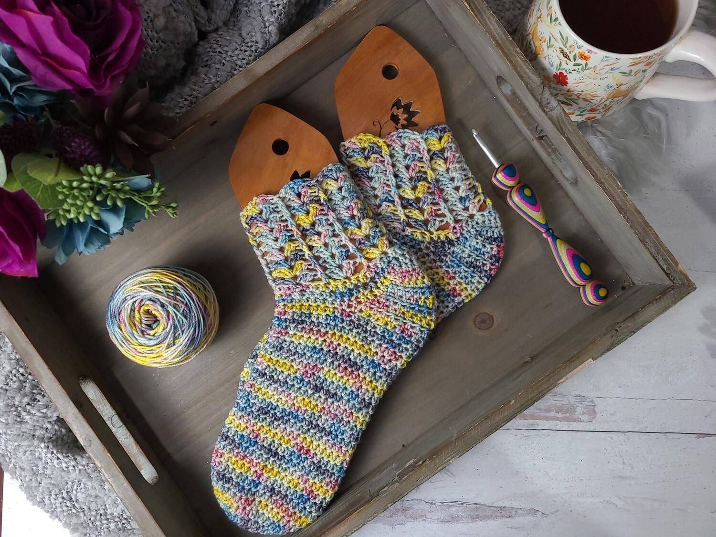 Rainbow Socks Crochet Kit