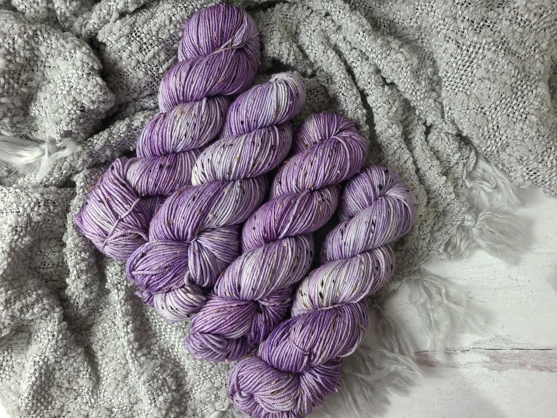 Lilac Tweed (DK) Hand Dyed Yarn Ready to Ship
