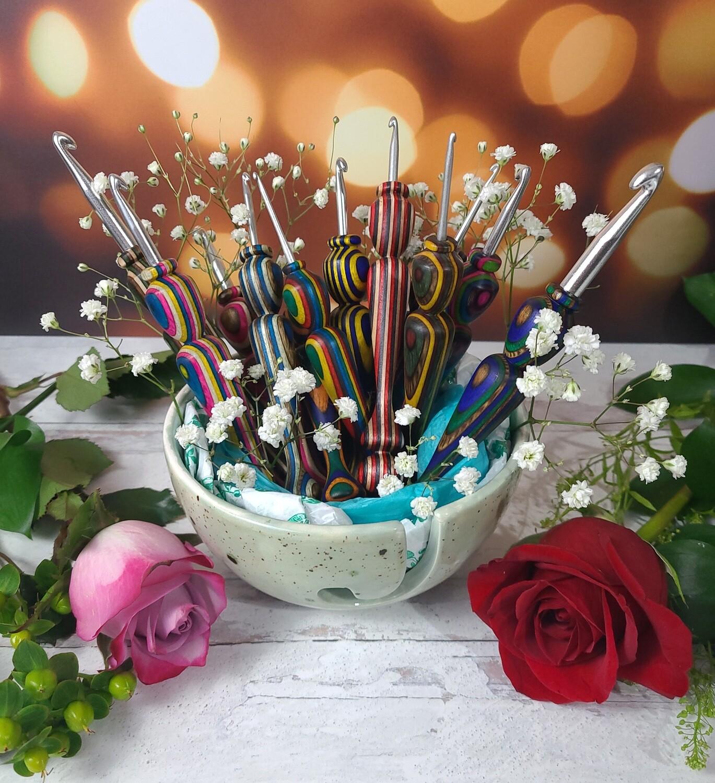 Mother's Day Dozen Roses Crochet Hook Custom 12 Piece Set