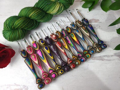 Roses Crochet Hook Custom 5 Piece Set