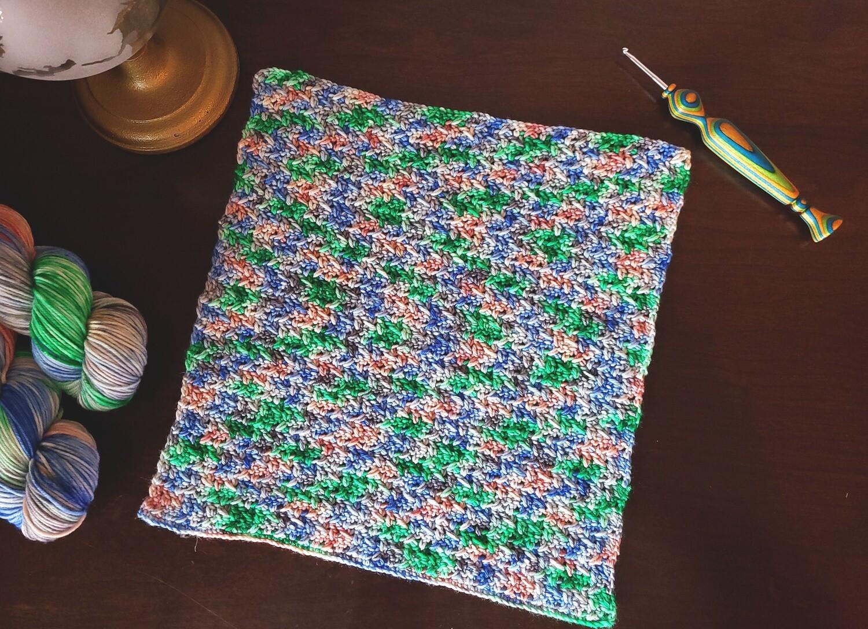 Square #6 Italy Crochet Square (Destination Blanket)