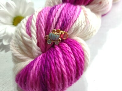 Dream is a Wish Baby Blue Pumpkin Carriage Stitch Marker