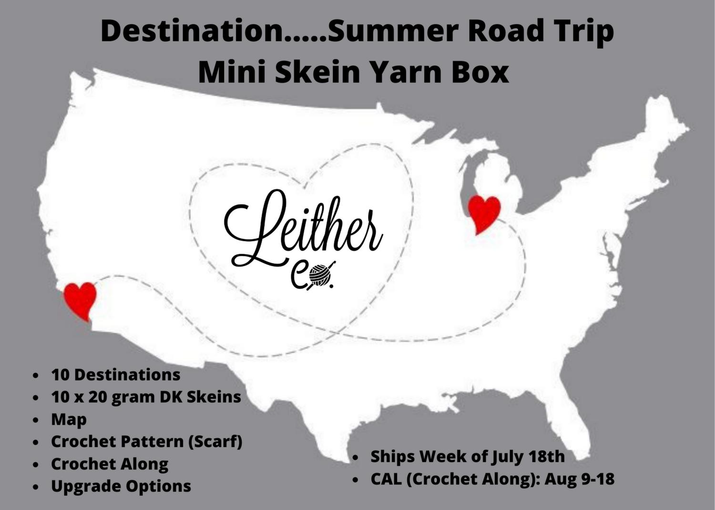 Destination...Summer Road Trip Mini Skein Yarn Box - PRE-ORDER