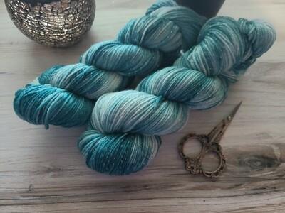 Teal Hand Dyed Yarn