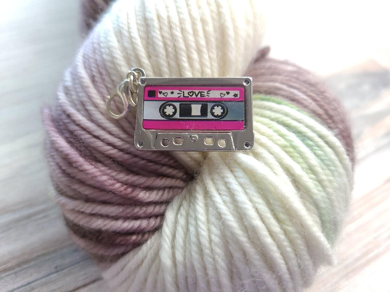 Love Cassette Tape Stitch Marker