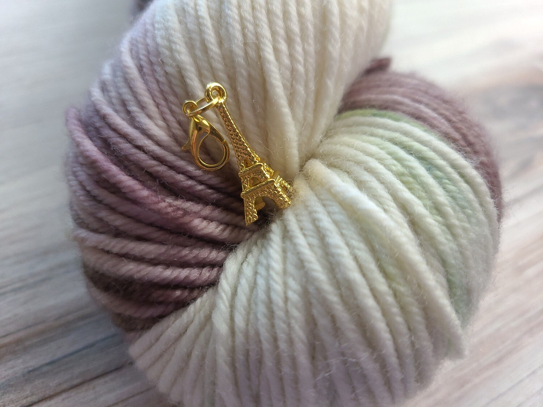Gold Paris Stitch Marker