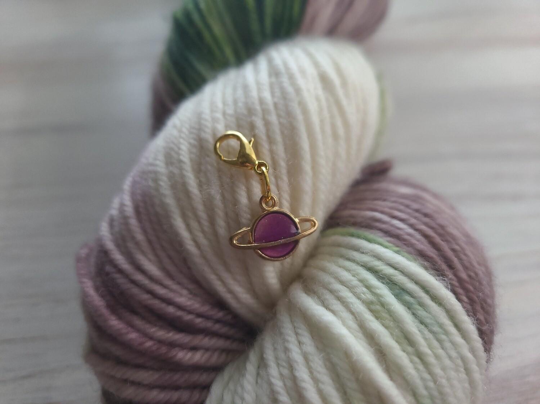 Purple Galaxy Stitch Marker