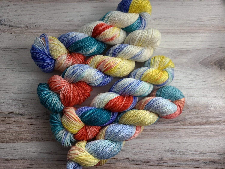 Beach Bound Hand Dyed Yarn Summer Collection