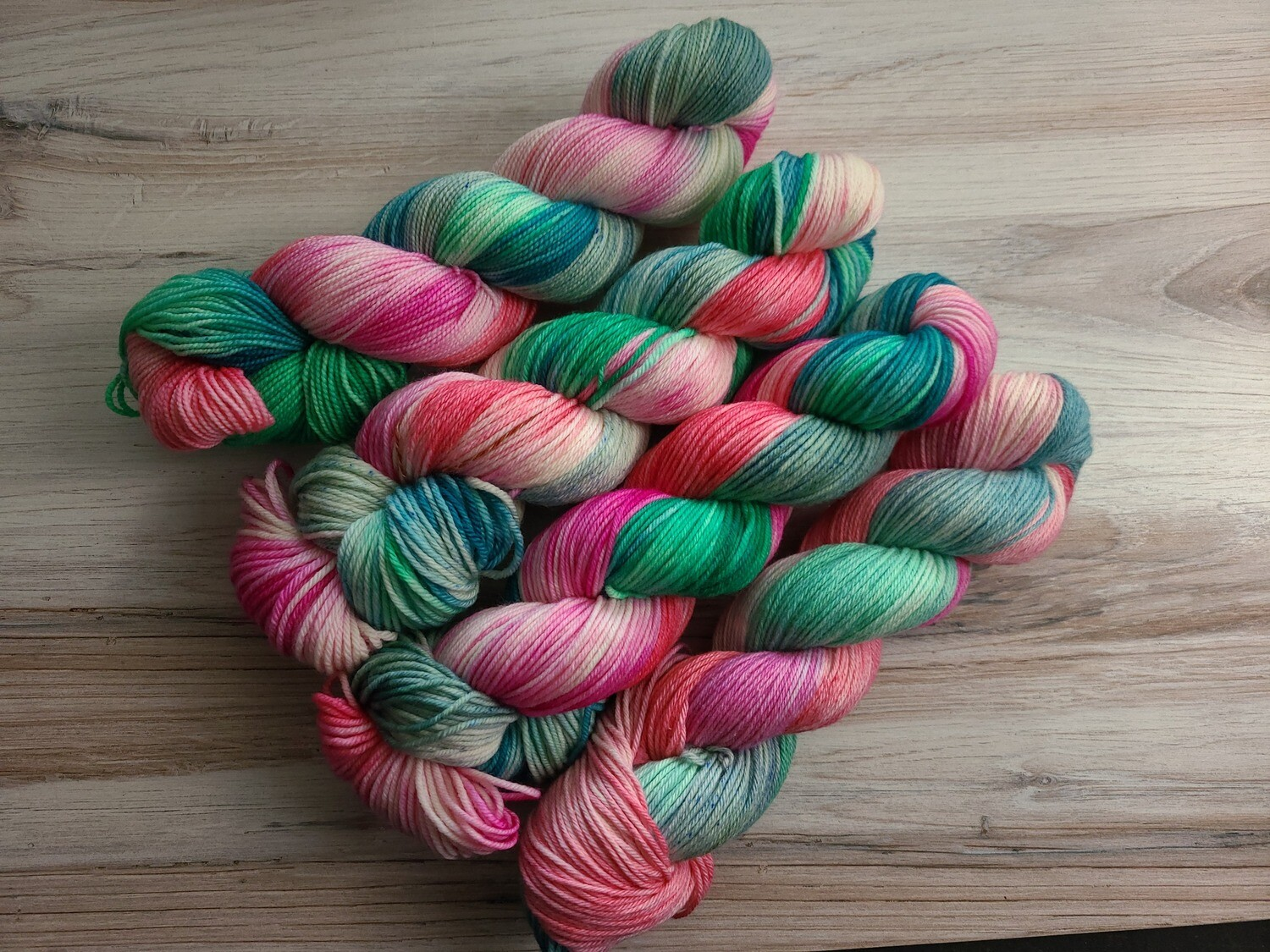 Flamingo Bay Hand Dyed Yarn Summer Collection