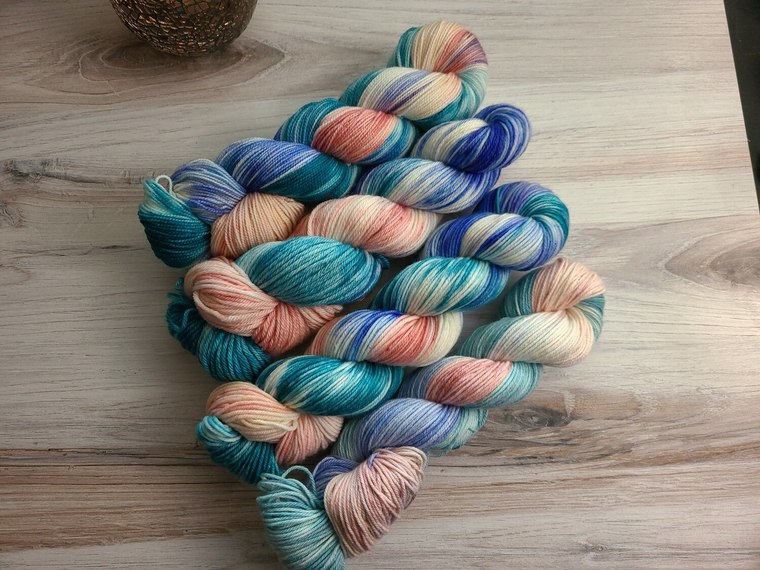 Out at Sea Hand Dyed Yarn Summer Collection