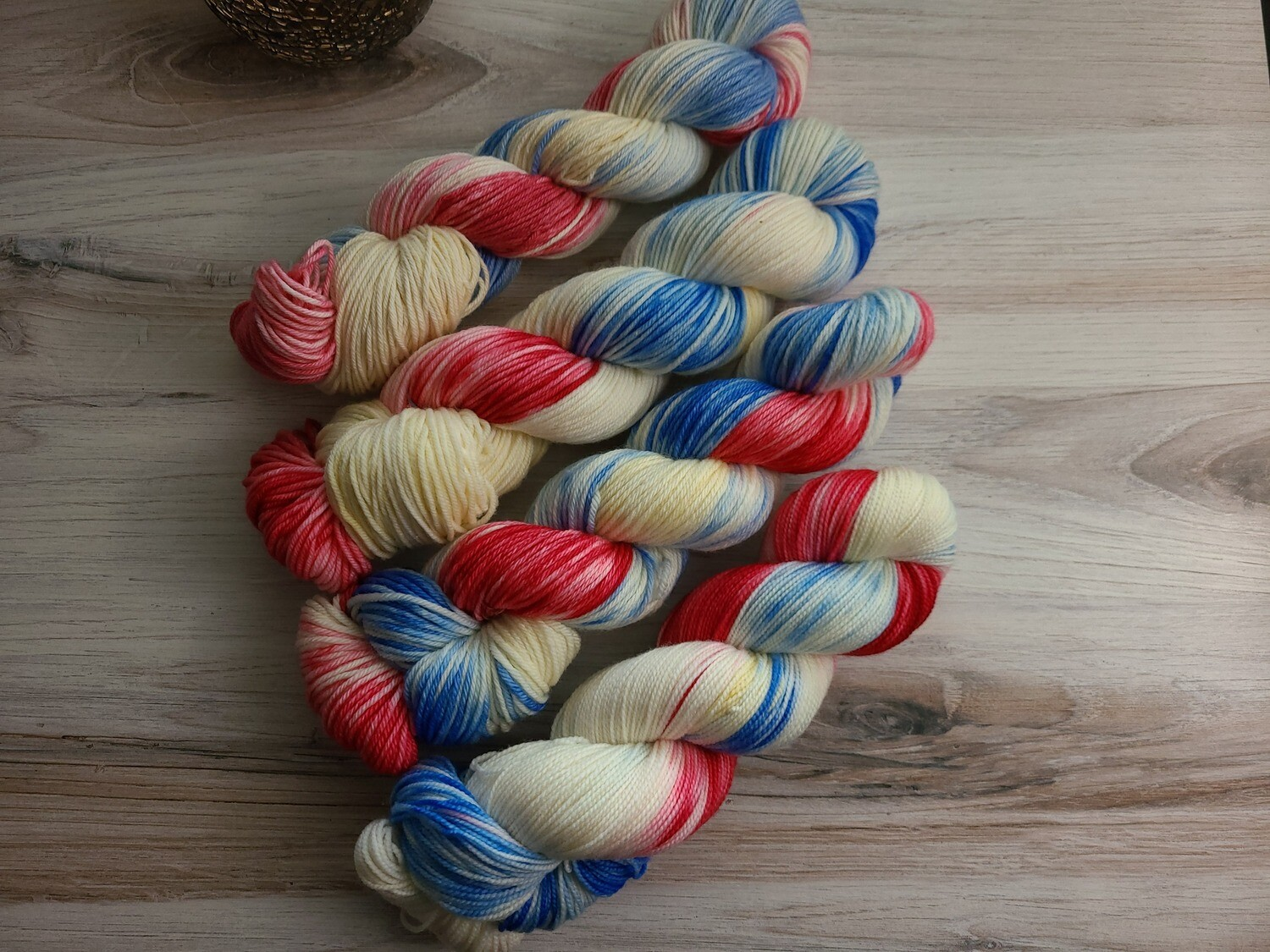 Bomb Pop Hand Dyed Yarn Summer Collection