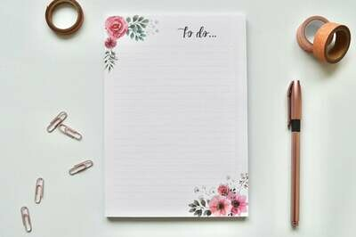 Vintage Flowers | A5 Eco-Friendly To-Do List Pad