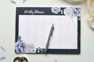 Midnight Roses | A4 Eco-Friendly Weekly Desk Planner