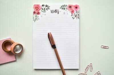 Vintage Flowers | A5 Eco-Friendly Notes Pad