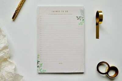 Spring Leaves | A5 Eco-Friendly To-Do List Pad