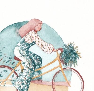 Blooming Bicycle Art Print